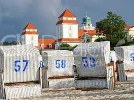 Strandkörbe in der Abendsonne - Beach Chairs