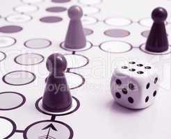 Spiel Figuren - Parlour Game pink