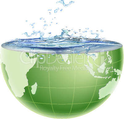 global water splashing out