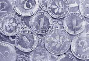 Pfennige - alte deutsche Währung