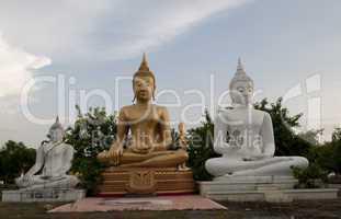 Buddha's figure in the Wat Phai Rong Wua