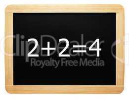 2 + 2 = 4 - Konzept Schild - Concept Sign