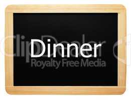Dinner - Concept Sign - Konzept Tafel