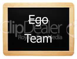 Ego / Team - Konzept Tafel - Concept Sign
