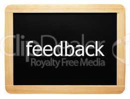 feedback - Concept Sign - Konzept Tafel