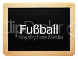 Fußball - Konzept Tafel