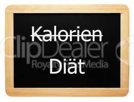 Kalorien / Diät - Konzept Tafel