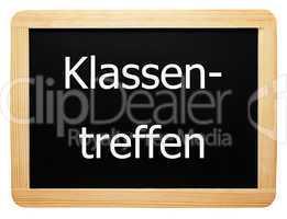 Klassentreffen - Konzept Tafel
