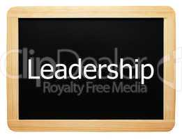 Leadership - Concept Sign - Konzept Tafel