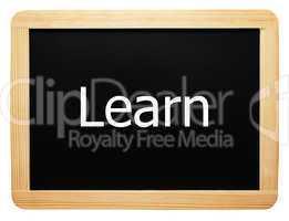 Learn - Concept Sign - Konzept Tafel