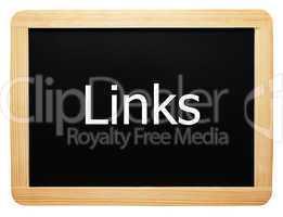 Links - Concept Sign - Konzept Tafel