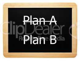 Plan A / Plan B - Konzept Tafel - Concept Sign