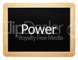 Power - Concept Sign - Konzept Tafel