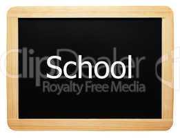 School - Concept Sign - Konzept Tafel
