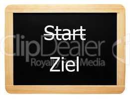 Start / Ziel - Konzept Tafel