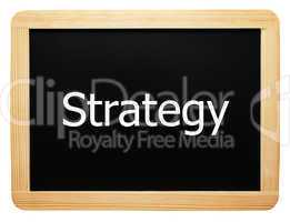 Strategy - Concept Sign - Konzept Tafel