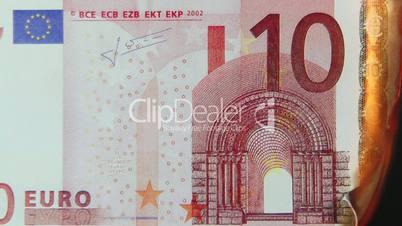 10 Euro Schein brennt ab - 10 Euro burning
