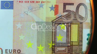 50 Euro Schein brennt ab - 50 Euro burning