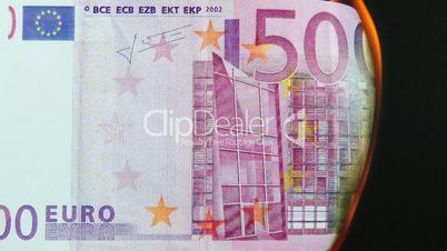 500 Euro Schein brennt ab - 500 Euro burning