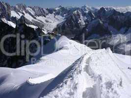 Grat an der Aiguille du Midi