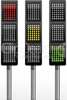 traffic signal icon on white background