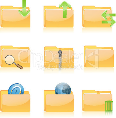 file icons on white background