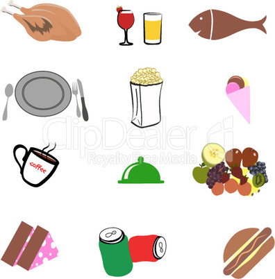 junk food o white background