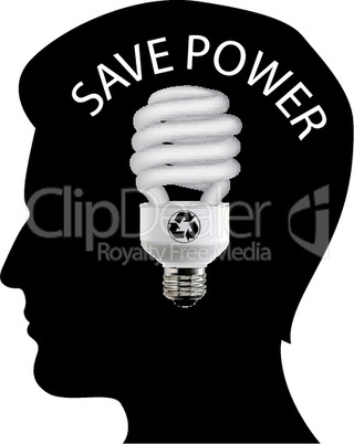 illustration of save power