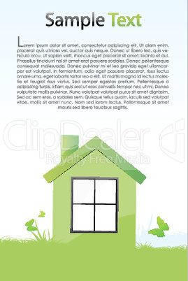 green house with light background