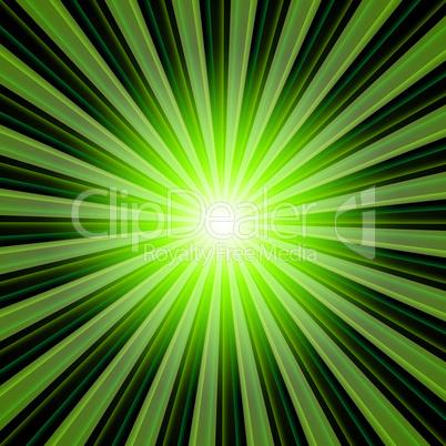 Hintergrund - Lichtstrahlen Grün Schwarz 02