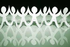 Teamwork Concept - white black