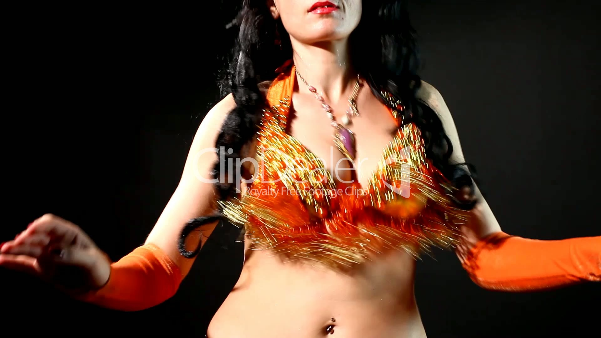 woman - belly dance - shake breast: royalty-free video and stock footage