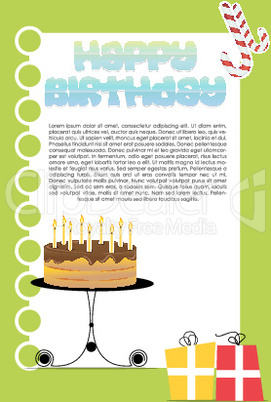 illustration of birthday card