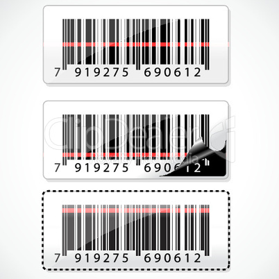 barcode with rays on white background