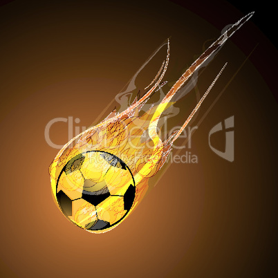 burning soccer with fire