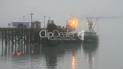 Fishing boats early morning fog P HD 7521