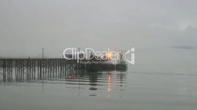 Fishing boats pier morning fog P HD 7522
