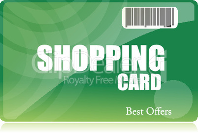 shopping card on isolated background