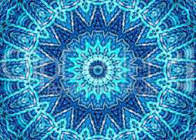 Cosmic Blue Mandala