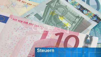 Euro Geldscheine - Steuern
