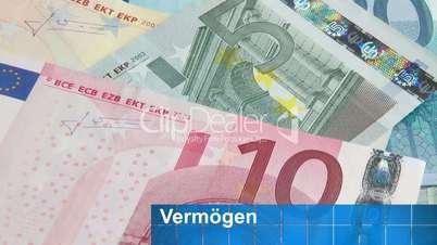 Euro Geldscheine - Vermögen