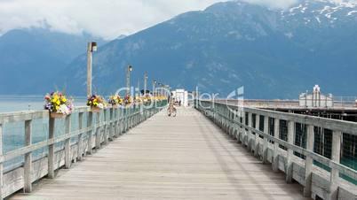 Bike on dock pier Alaska P HD 0060