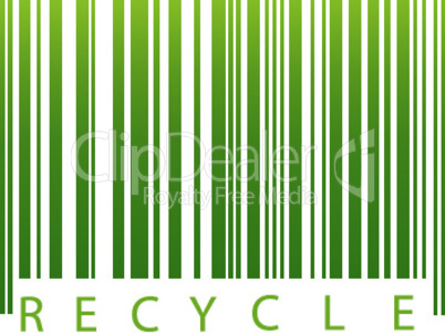 illustration of recycle, barcode