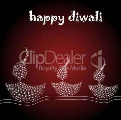 illustration of diwali card