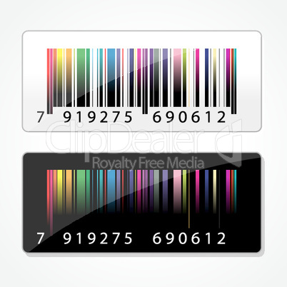 colorful barcode on white background