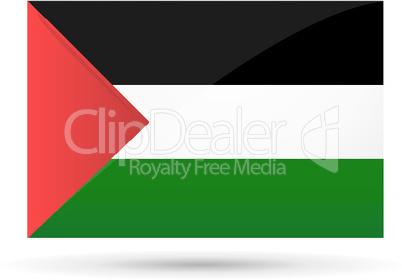 palestine flag on white background