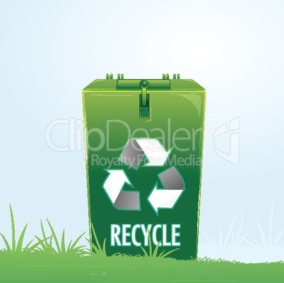 recycle bin in park
