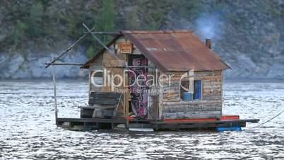 Yukon River houseboat smoke P HD 1447