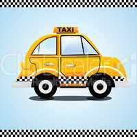 taxi on the way