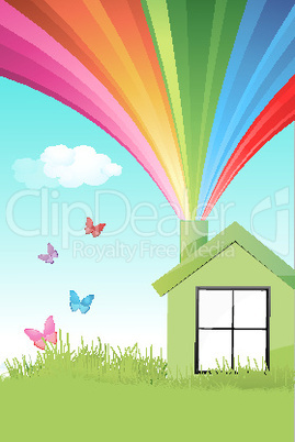 colorful natural home
